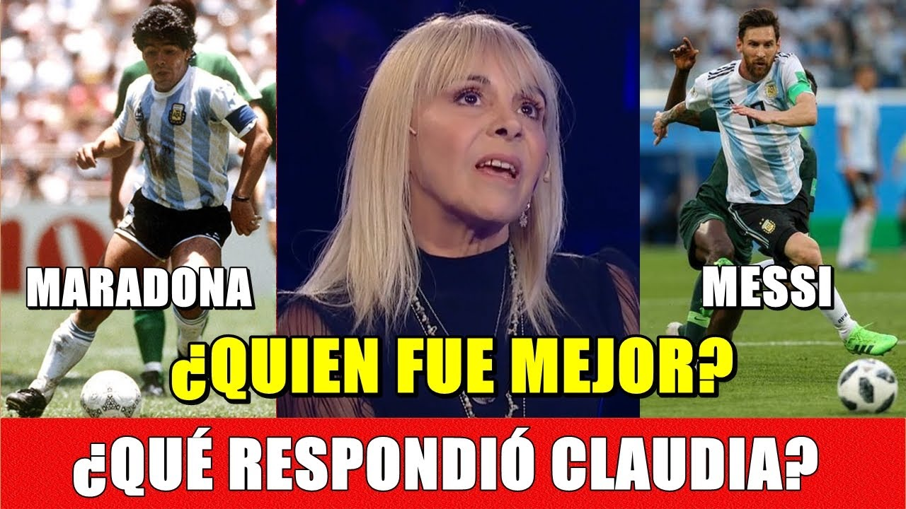 ¿MESSI O MARADONA? Lo que Claudia Villafañe respondía en Telefé, cuando Diego aún vivía (02-02-2020)