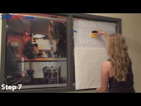 How to Install Vinyl Lettering and Logo onto glass