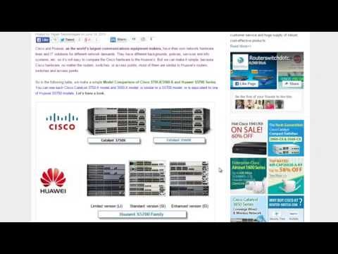 Cisco 3750-X/3560-X vs Huawei S5700 GE Switch Models