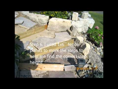 How to lay a flagstone walkway.wmv