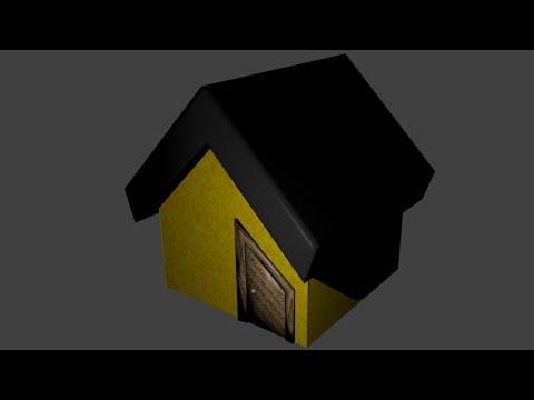 Byteweiser Blender Tutorial #1b: Make a Low Poly Cartoon House (Floor, Door Frame, Roof)