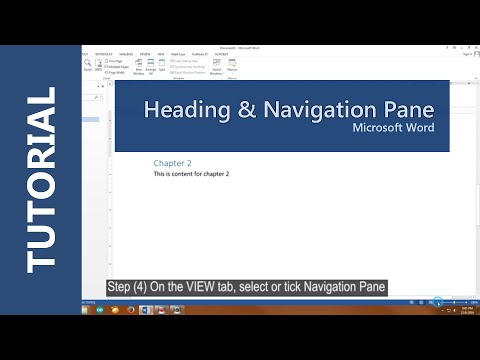 How to create heading and show Navigation Pane in Microsoft Word