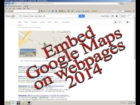 2014 How to embed a google map onto a webpage