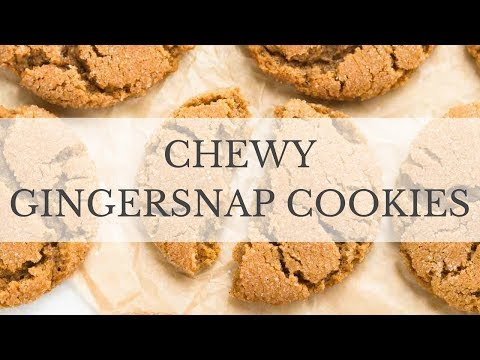 Chewy Gingersnap Cookies Recipe