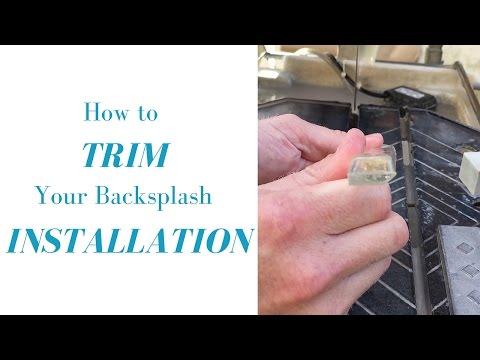 How to Trim Your Backsplash Installation