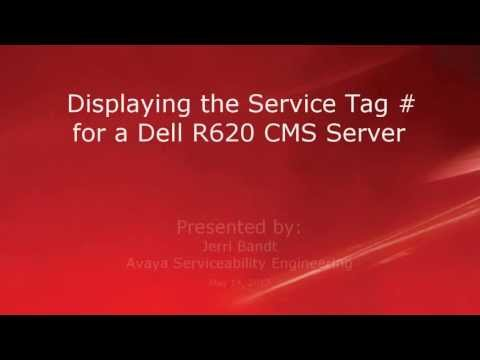 Displaying the Service Tag # for a Dell R620 CMS Server