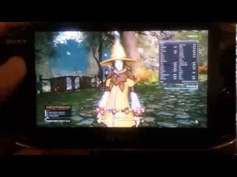 Final Fantasy XIV: A Realm Reborn [PS4 Beta] - PS Vita Remote Play test