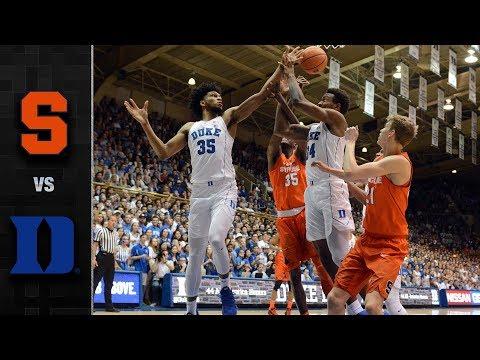 Syracuse vs. Duke Basketball Highlights (2017-18)