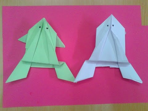How to Make a Paper Origami Jumping Frog: Simple & Easy (HD)