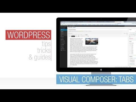 Wordpress Tutorial: Visual Composer - Tabs