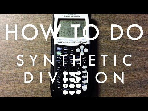 How To Do Synthetic Division on a TI-84