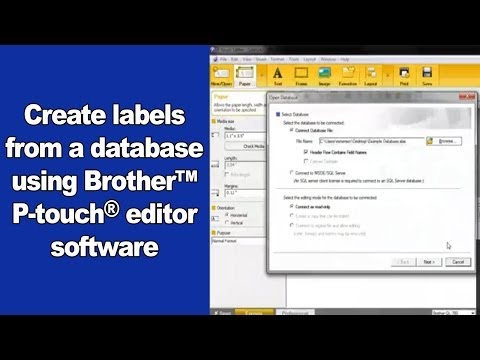 Creating Labels from a Database Using Brother's P-Touch Editor 5
