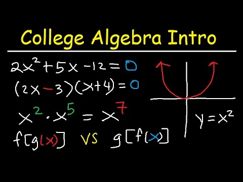 College Algebra Introduction Review - Basic Overview, Study Guide, Examples & Practice Problems