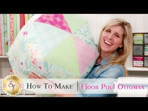 How to Make a Floor Pouf Ottoman | a Shabby Fabrics Sewing Tutorial