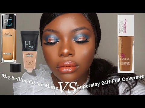 Maybelline Fit Me Foundation VS Superstay Full Coverage | Drugstore Foundation Review