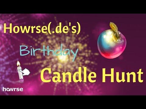 Howrse Birthday Candle Hunt