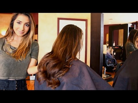 How to cut dry hair before a Balayage service