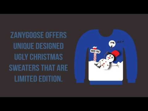 Zanygoose - Ugly Christmas Sweaters - Slippery Snowman