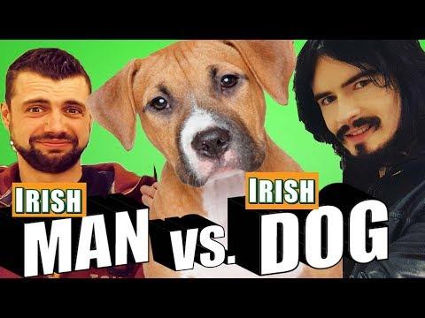 Irish People Vs Irish Dog - McDonalds Challenge!! - 'MAN VS DOG'