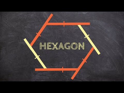 How to determine the measure of each exterior angles for a regular hexagon