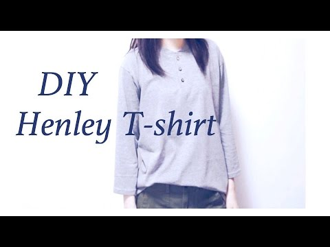 DIY Henley T-shirt / Button Placket Tutorial // ヘンリーネックTシャツの作り方 / 手作教學 / Costuraㅣmadebyaya