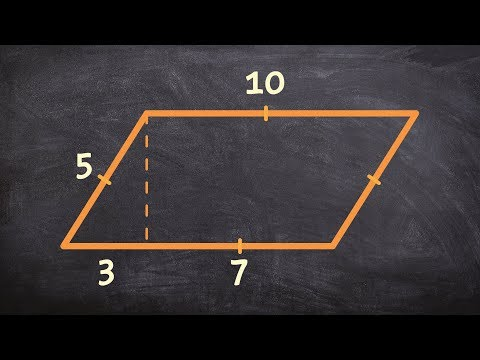Use the pythagorean theorem to find the area of a parallelogram