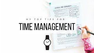 How I manage my time ⏰ 10 tips for time management | studytee