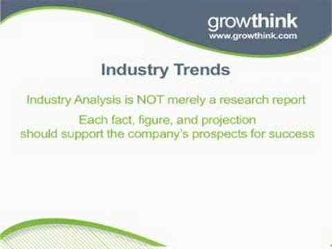 Writing the Industry Analysis Section of Your Business Plan