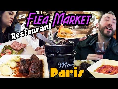 CHEZ LOUISETTE PARIS FRANCE BEST TRADITIONAL RESTAURANT  FLEA MARKET EAT IN PARIS TRAVEL FOOD BLOG