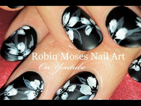 Easy and Elegant Flower Nails | DIY White Floral Nail Art Design Tutorial