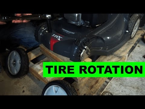 How to Rotate your Lawn Mower Tires - Honda HRX217VKA