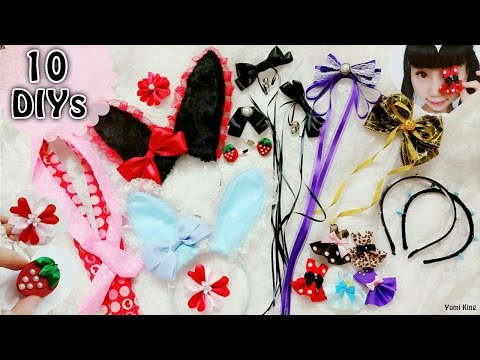 10 DIY Cute and Easy Hair Accessories for School, Cosplay, Gothic and Lolita
