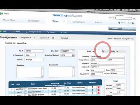 How To Create Consignment Orders