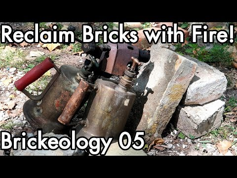Brickeology 05: Clean Reclaimed Bricks with Fire! Thermal Expansion Removes Mortar/Cement/Concrete