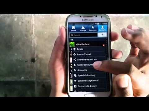 Samsung Galaxy S4 : How to merge contacts with Samsung Account (Android Kitkat)