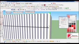 SketchUp and Skatter - parametric wall