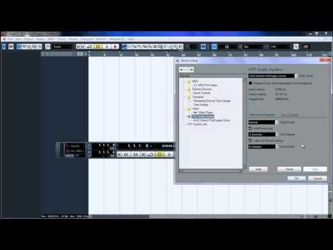 Cubase 5 Tutorial - Set up your project options and soundcard