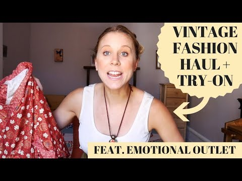 Vintage Clothing Haul & Try-On with Emotional Outlet!!!