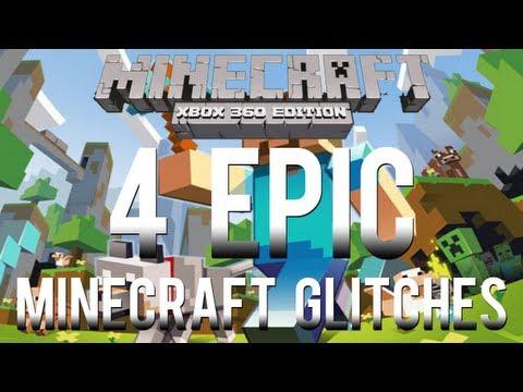 Minecraft Glitches: 4 EPIC Glitches on Minecraft Xbox 360 Edition (Voice Tutorial)