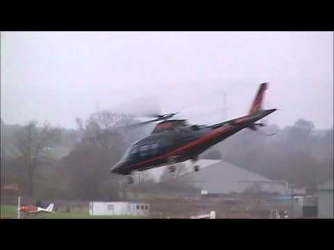 Agusta 109S grand and King Air B200 departing Exeter