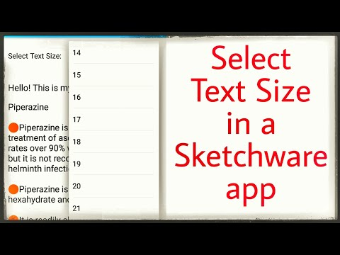 Allow user to select text size in app