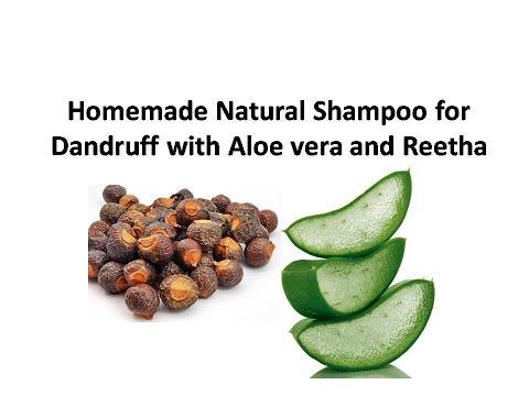 Natural Homemade Shampoo : Homemade Natural Shampoo for Dandruff with Aloe vera and Reetha