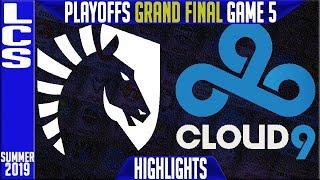 TL vs C9 Highlights Game 5 | LCS Summer 2019 Playoffs Grand Final | Team Liquid vs Cloud9
