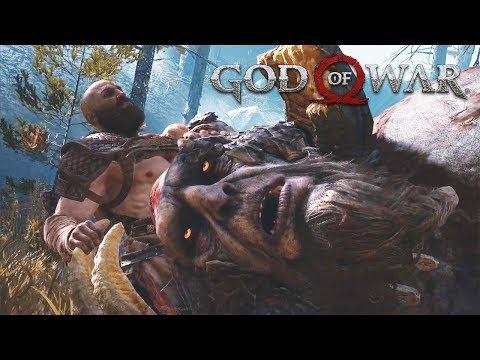 Rock & Fire Troll Boss Fights GOD OF WAR 4 (PS4 Pro)