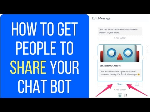 How To Get People To Share Your Chat Bot on Facebook Messenger