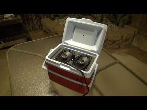 How to Build a Mini Ice Chest Cooler Stereo 1080p