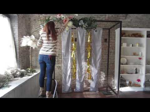 Wedding Ceremony Floral Arch DIY