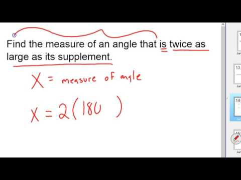 What is a Complementary and supplementary pair of angles