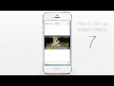 How to Lock Screen Rotation on iPhone and iPad (iOS7)