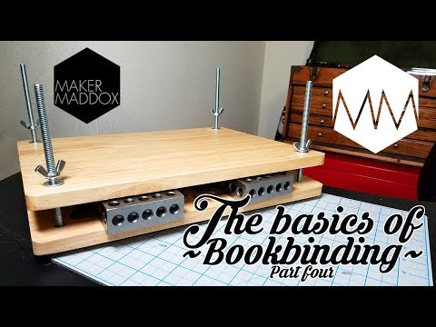 ▲ Book Press how-to // Bookbinding Basics ep. 4